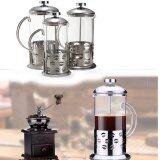 ขาย Audew Stainless Steel Glass Cafetiere Teapot Pot Filter Coffee Tea Press Plunger 800Ml Audew New Intl ราคาถูกที่สุด