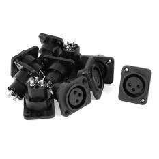 ขาย Audio Xlr Female Jack Panel Mount Socket Black Silver Tone 10 Pcs ออนไลน์