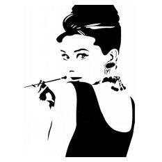ทบทวน Audrey Hepburn Diy Removable Vinyl Wall Stickers Decal Art Home Decor Mural
