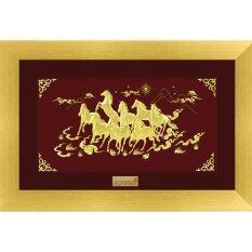 ขาย Aurora ทองคำแท้ 99 9 กรอบรูป ม้ามงคล 8 ตัว 18 30 ซม Aurora Gold ถูก