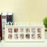 ส่วนลด Baby My First Year Photo Frame Multi Picture Display 12 Months White Wood Intl จีน