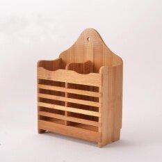 โปรโมชั่น Bamboo Cutlery Storage Holder Spoon Chopsticks Kitchen Organizer Drying Rack Intl