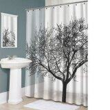 Bathroom Fabric Shower Curtain Landscape Big Tree Design Waterproof12 Hooks Intl ใน จีน
