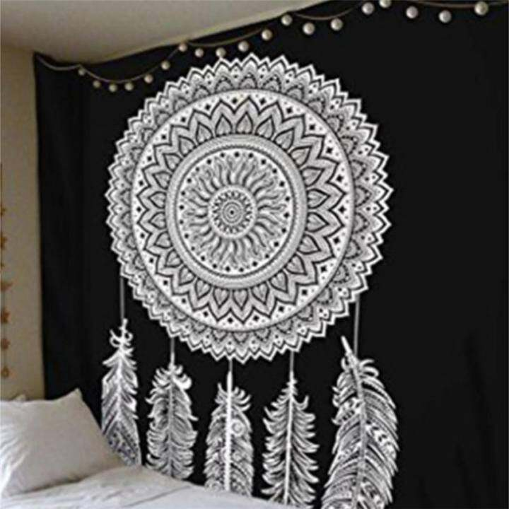 โปรโมชั่น ผ้าเช็ดตัวชายหาดผ้าเช็ดตัวชายหาด Tapestry แขวนผนังหาดทรายปิกนิก โยนผ้าห่มขนเป็ดแคมป์เต็นท์ที่นอน Sleeping Pad 200 * 145cm