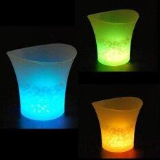 ราคา Beautiful Blue Led Ice Bucket 5L Plastic For Party Champagne Wine Beer Cooling Intl ถูก