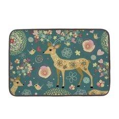 ขาย Beautiful Deers And Birds Doormats Cover Multi Purpose For Bathroom Kitchen Workstations Decor Floor Mat Intl