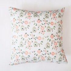 โปรโมชั่น Beautiful Rural Style Home Bedroom Creative Linen Pillow Cover Square Sofa Pillow Case Style Birdcage Intl จีน