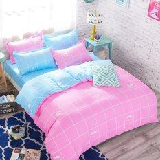 ส่วนลด Pillow Land ผ้าปูที่นอน ชุดผ้านวม 6 ฟุต 6 ชิ้น ตาราง 002 Bedding Cheap กรุงเทพมหานคร