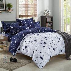 ราคา Pillow Land ผ้าปูที่นอน ชุดผ้านวม 6 ฟุต 6 ชิ้น ดาว 105 ใหม่