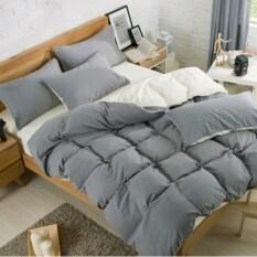 ราคา Bedding Cheap ผ้าปูที่นอน ชุดผ้านวม เกรด A 6 ฟุต 6 ชิ้น สีล้วน018 ออนไลน์