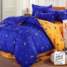 Pillow Land ผ้าปูที่นอน ชุดผ้านวม 6 ฟุต 6 ชิ้น ลายดาว 003.
