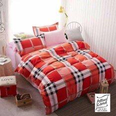 ขาย Bedding Cheap ผ้าปูที่นอน ชุดผ้านวม เกรด A 6 ฟุต 6 ชิ้น ลายสก๊อต 103
