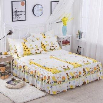 ผ้าปูที่นอนกระโปรงผ้าคลุมเตียงที่นอนผ้ากันเปื้อนผ้าปูที่นอนผ้าปูที่นอนผ้าปูเตียงสิ่งทอหน้าแรก 120*200 เซนติเมตร-นานาชาติ