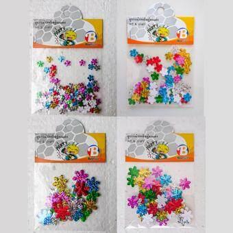 สติกเกอร์เลเซอร์ตกแต่ง Beehive รูปดอกไม้ 4 ซอง