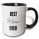 ซื้อ Best Mom Ever Two Tone Black Mug 11Oz Coffee Mug Cup Black White Best Gift For Mother Intl ถูก