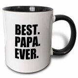 ขาย Best Papa Ever Gifts For Dads Father Nicknames Fathers Day Black Text Two Tone Black Mug 11Oz Intl ถูก จีน