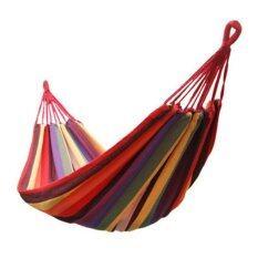 Best Tmall Portable Cotton Rope Outdoor Hammockเปลนอนพกพาสะดวก (red)