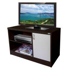 โปรโมชั่น Besta ชั้นวางทีวี มอสโค 2ชั้น พร้อมตู้เก็บของ ขนาด 80X40X50Cm สีโอ๊ค ใน ไทย