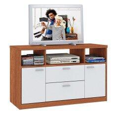 ซื้อ Besta ชั้นวางทีวี บี ล๊อก รุ่น Tc 0034 สีสัก ขาว ถูก