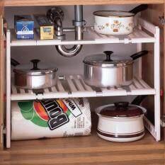 ราคา Best Deal ชั้นวางของอเนกประสงค์ปรับความยาวได้ สามารถใช้ใต้ซิ้งล้างจานได้ ใหม่ ถูก