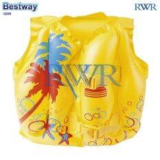 Bestway เสื้อชูชีพ เป่าลม ลายชายหาด ทรอปิคอล รุ่น 32069 By Rwr.
