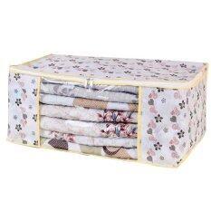 ขาย Better Homes กระเป๋าเก็บผ้าห่ม เครื่องนอน ลายดอกไม้สีขาว ออนไลน์