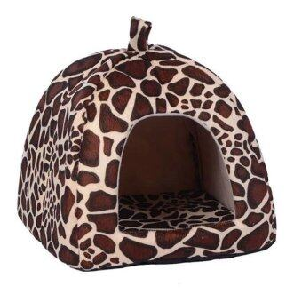 ราคา Bh N038 Xxl Brown New Soft Leopard Pet Bed House Products For Dog Puppy Cat Rabbit เป็นต้นฉบับ