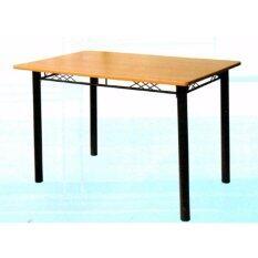 ขาย Bh โต๊ะอาหาร เคลือบผิว Pvc ขนาด 4 ฟุต รุ่น Tj4P บีช ไทย ถูก