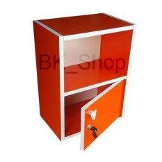 Bk_shop ตู้ไม้1บานกุญแจ รุ่น ตู้ล็อคเกอร์จิ๋ว1บาน(33x24x44cm.)-จัดส่งเป็นแพ็ค.