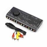ขาย สีดำ 4 Way Audio Video Av Rca Switcher Rca Av สวิทช์ กล่อง Unbranded Generic ออนไลน์