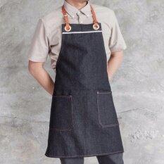 ขาย ผ้ากันเปื้อนยีนส์ Black Cozy Denim Onme Apron ออนไลน์ กรุงเทพมหานคร