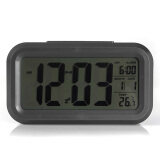 ขาย ซื้อ Black Digital Lcd Alarm Clock Time Calendar Thermometer Snooze Backlight จีน