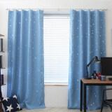 ทบทวน ที่สุด Blackout Thermal Solid Window Curtai Light Blue