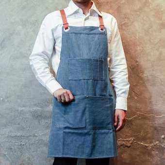ผ้ากันเปื้อนยีนส์ Blue Denim Froom Onme Apron-