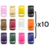 ส่วนลด Bluecell 120 Pcs Of 3 8 10Mm 12 Colors 10 Each Contoured Side Release Plastic Buckles Intl Unbranded Generic ใน จีน