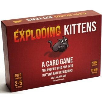 Board Game Cards - Exploding Kittens Poker Game for Party - Mini board game(Red) - intl