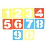Bolehdeals 10Pcs Arabic Numbers 9 Drawing Template Stencils Ruler For Kids Children Crafts Intl จีน