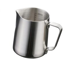 BolehDeals 350ml Kitchen Stainless Steel Coffee Frothing Milk Tea Latte Jug with Scale - intl