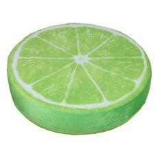 โปรโมชั่น Bolehdeals 3D ผลไม้บ้านนั่งเก้าอี้รองพิมพ์เบาะโซฟาปล่อยรถกลับหมอน Lemon1 ใน จีน