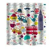 ขาย Bolehdeals Bathroom Extra Long Fabric Bath Shower Curtain With 12 Hooks London Intl ใน จีน