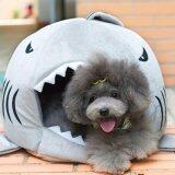 ขาย Cat Pet Shark Bed Puppy Dog Cozy Warm Cushion Mat Nesting Rest House Grey S ออนไลน์ จีน