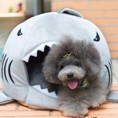 ขาย Cat Pet Shark Bed Puppy Dog Cozy Warm Cushion Mat Nesting Rest House Grey S ถูก