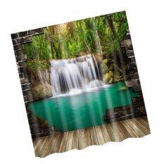 ขาย Bolehdeals Extra Long Bathroom Fabric Bath Shower Curtain With 12 Hooks Ring Scenery 8 Intl ออนไลน์ จีน