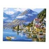 ซื้อ Bolehdeals Frameless Diy Painting By Numbers Canvas Painting Art Picture Beach Town Intl Bolehdeals
