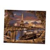 ราคา Bolehdeals Frameless จิตรกรรมฝาผนังโดยตัวเลขภาพวาดผ้าใบภาพ Tower และเรือ นานาชาติ ใหม่