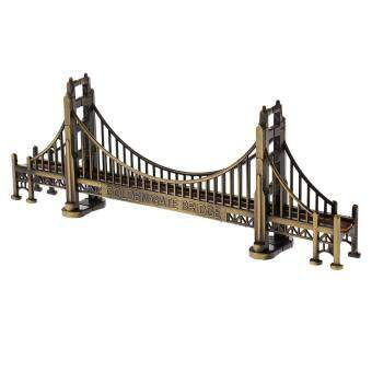 BolehDeals Retro Metal Building ตกแต่งสะพานโกลเดนเกตรูปปั้นตกแต่งคาเฟ่ - INTL