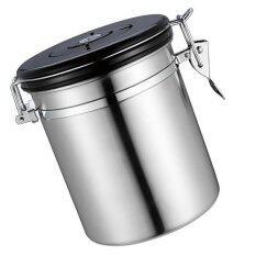 ส่วนลด Bolehdeals สแตนเลสสตีลชากาแฟกระป๋อง Jar กล่องเก็บน้ำตาลตราหม้อสามารถ Slv