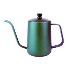 โปรโมชั่น Bolehdeals Stainless Steel Hand Drip Coffee Pot Pour Over Gooseneck Kettle 600Ml Green Intl