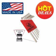 ขาย Bondhus ชุดประแจหกเหลี่ยมตัวแอล หัวบอล สีเงิน Mini Made In Usa ของแท้ Bondhus ถูก