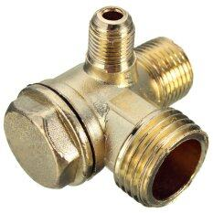 ขาย Brass Male Threaded Check Valve Connector For Air Compressor D 5Mm 10Mm 15Mm Intl ราคาถูกที่สุด